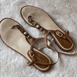 100% Authentic CHANEL Sandals, Size 40